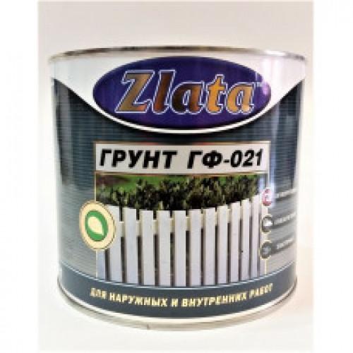 Грунтовка для металла Zlata ГФ-021, красно-кор., 0,8л